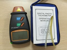 Lcd Digital Tachometer NZ - Wholesale-Newest! Digital Laser Tachometer Range From 2.5 To 100,000 RPM LCD Display Tachometer Automatic High Resolution Free Shipping