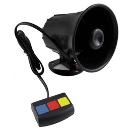 12v car siren horn 2019 - New Motorcycle Car Security Horn Van Vehicle Loud Siren 12V with 3 Sounds For Car Motorcycle Moped Truck Construction Ve