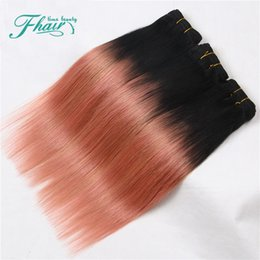dye human hair gold Canada - Star Style Ombre 1B Rose Gold Color,3 Bundles Brazilian Indian Malaysian Mongolian Peruvian Straight Human Hair Extension Free Shipping