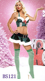 Tenue De Lingerie De Noel Pas Cher-Sexy 2PC Lingerie Xmas Christmas Santa Claus Parti Fancy Dress Outfit Mascotte Costumes BS121