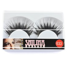 Shilina Faux Cils Pas Cher-Vente en gros SHILINA 633 Faux cils 10 paires Hand-made Natural Long Black Winged Fake Eye Lashes Extension Maquillage professionnel gratuit shippin