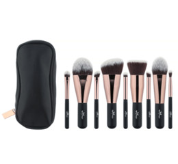 $enCountryForm.capitalKeyWord Canada - Anmor Lovely Travel 9 Pcs Makeup Brush Set Synthetic Mini Makeup Brushes with Bag Mbc03 Cosmetic Brush Make Up Tools Kit