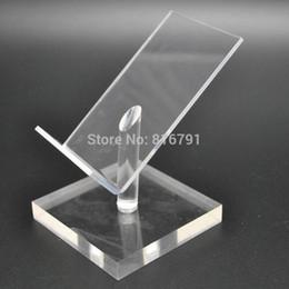 10 stücke Acryl Display Halter Handy Stand Mobile Dummy Schreibtisch Unterstützung für iphone / Samsung / Huawei Einzelhandel Shop Ausstellung