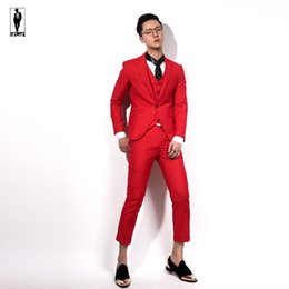 Red White Men Wedding Suit Custom Canada | Best Selling Red White ...
