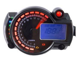 universal digital speedometer motorcycle 2019 - 2 colors Motorcycle Adjustable Digital Speedometer LCD Odometer Backlight Speedometer Universal All motorcycle TYB002 ch
