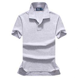 7fa551569227c Бесплатная доставка 2018 лето высокое качество мужская рубашка поло мужские короткие  рукава досуг мода поло мужская сплошной цвет рубашки поло размер S-XXL