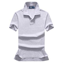 Envío gratis 2018 verano de alta calidad de los hombres camisa de Polo de los hombres de manga corta ocio moda polo de los hombres de color sólido Polo tamaño S-XXL en venta