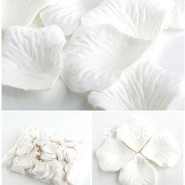 $enCountryForm.capitalKeyWord NZ - 10000Pcs White Wedding Party Decoration Table Confetti Fabric Silk Flower Rose Petals