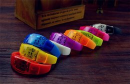 voice activate toys Canada - 300pcs Music Activated Brightness voice control led flashing bracelet led flashing silicone led bracelet wristband for cheer party D868