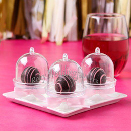 Baby Cake Decor Canada - FREE SHIPPING Wholesale 200PCS Acrylic Clear Mini Cake Stand Baby Shower Wedding Favors Holder Birthday Party Sweet Table Decor Supplies