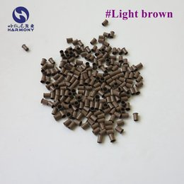 $enCountryForm.capitalKeyWord NZ - 4.0*3.6*6.0mm Light Brown Copper Micro Tubes with Flare Edge for Prebonded hair Micro Rings Euro Locks (500pcs bottle )
