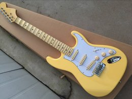 $enCountryForm.capitalKeyWord Canada - Custom Vintage Yellow Cream Yngwie Malmsteen Scalloped Maple fingerboard Big Headstock ST 6 string Electric Guitar guitarra Drop Shipping
