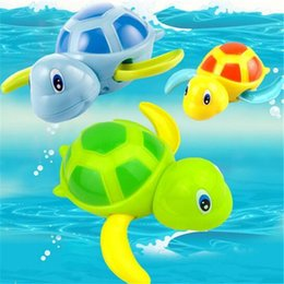 turtle toy bath 2020 - Baby Bath Toys Clockwork Dabbling Swim Toy Swimming Tortoise Animal Baby Bath Toys for Kids Little Turtle Toys Random Co