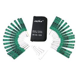 Ücretsiz Kargo 32-Piece Kilidi Kilidi Pick Set Anahtar Extractor Aracı ile Şeffaf Uygulama Asma Kilit