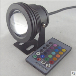Use Pool Canada - 10W Underwater Lights Aquarium Waterproof RGB LED Swimming Pool Light IP68 DC12V Outdoor Use with IR Remote Controller Multicolors