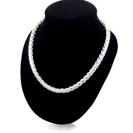 $enCountryForm.capitalKeyWord UK - Twisted Singapore Necklace Chain TO Button Thick String 30% 925 Sterling Silver Jewelry For Women And Men 20Inch Long Singapore Necklace