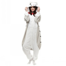 cat cosplay pyjamas UK - Unisex Fleece Cute Pajamas Onesies Hooded Animal Pajama Chi's Sweet Cosplay Costumes Chi Cat Pyjama Halloween Cartoon jumpsuit Free Shipping