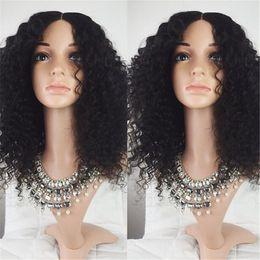 Mongolian Human Hair Wigs Canada - High Density Mongolian Human Hair Curly  Wigs Glueless Full Lace 633bb3d3e4