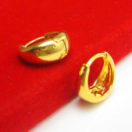 gold 999 ring Canada - Do not fade hypoallergenic gold earrings for men and women section smooth gold-plated 999 gold imitation 24K ear ring buckle ear