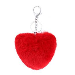 2016 Мода милый кролик мех мяч брелки 3D автомобиль Rhinestone Key Chain металлический ключ кольца аксессуары женщин брелок сумка шарм кулон QLK200