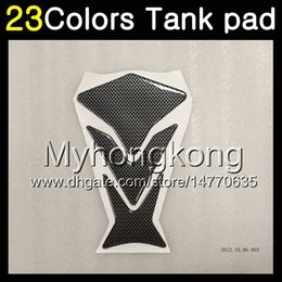 Honda cbr gas cap online shopping - 23Colors D Carbon Fiber Gas Tank Pad Protector For HONDA CBR600RR CBR600 RR CBR RR D Tank Cap Sticker