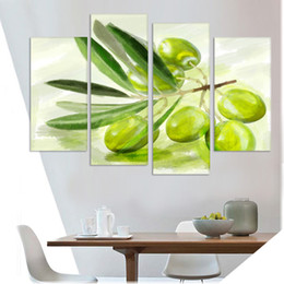 $enCountryForm.capitalKeyWord Canada - New Printed spray painting wall pictures for kitchen 4 Panel Canvas Art Fruits Modern living room decoration still life(No Frame)