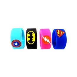 AmericA mod online shopping - Superman Batman Captain America Flash Silicone Vape Band Engraved Logo Silicon Beauty Decorative Ring mm mm for Rba Rda Vapor Mod DHL