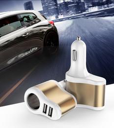 Car Power Port Splitter Canada - Car Charger 2 Port USB Car Cigarette Lighter Socket Splitter Plug Charger Socket Power Adapter For Cellphone etc