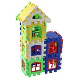 Kids Block Games UK - 24 Pcs Set Baby Kids House Bulding Blocks Educational Learning Construction Developmental Toy Set Brain Game Toy