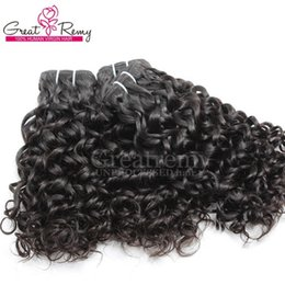 Big Curly Hair Weave Canada - 3pcs lot Malaysian Human Hair Weaves Dyeable Natural Hair Wefts 7A Water Wave Big Curly Remy Virgin Hair Weaves Greatremy Drop Shipping
