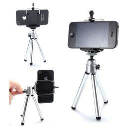 Универсальный мини-штатив стенд держатель портативный 360 вращающийся выдвижная крепление штатив с зажимом для камеры iPhone 8 X Samsung S8 мобильный телефон