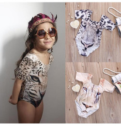$enCountryForm.capitalKeyWord Canada - New children 3D Tiger printing One-Pieces Swimwear Baby swimsuit cartoon kids Bikinis free shipping BH2124