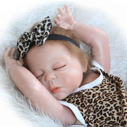 $enCountryForm.capitalKeyWord Canada - 23 Inch Realistic Reborn Babies Doll Sleeping Full Body Silicone Lifelike Dolls Girl Christmas Birthday Gift