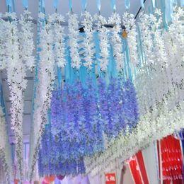 $enCountryForm.capitalKeyWord Canada - Elegant White Artificial Silk Decorative Flowers Garland Fake Hanging Orchids Plants Vine For Wedding Party Decoration Supplies 50pcs lot