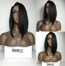 $enCountryForm.capitalKeyWord Canada - 2016 Hot 8''-14'' Short Hair Cut Brazilian Hair Full Lace Wigs Short Bob Human Hair Lace Front Wig For Black Women
