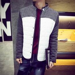 $enCountryForm.capitalKeyWord Canada - Fall-S-6XL Plus Size Men's Patchwork PU Leather Jackets With Plaid Male's PU Leather Motorcycle Cotton Jacket Men's Outwear Clothing