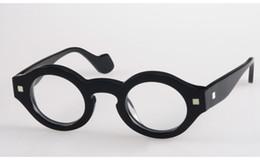 Marca Glasses-Fashion Theo vintage circular marco completo masculino  Mujeres anteojos miopía gafas marco negro a398ff2ce4