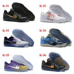d292239545790 40Color Hot Sale Drop Shipping Wholesale Famous Mamba Bryant 11 Elite BHM  Mens Sports Basketball Shoes KOBE Sneakers Size 7-12