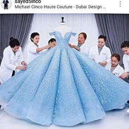 Fashion design major online shopping - Gorgeous Dubai Design Evening Dress Glamorous Lace Ball Gown Celebrity Red Carpet Dresses Custom Made Off Shoulder Puffy Formal Prom Dress