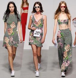 Hot Nuova Europa e il tessuto della camicia gonna a mano fai da te Stati Uniti passerella drappo di stampa geranio tessuto dei vestiti in Offerta