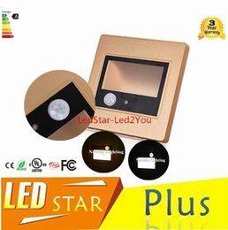 Discount indoor step lights - Human Body Auto Motion Light Sensor LED Footlight for Indoor 1.5w 160LM Step Lamp Squared Sconce Recessed Inwall Lightin