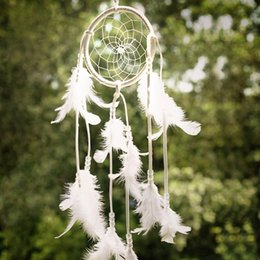 $enCountryForm.capitalKeyWord Canada - 2016 Hot Sell Dreamcatcher Gift Handmade White Dream Catcher Net With Feathers Wall Hanging Decoration Ornament