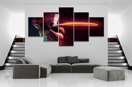 dota figures NZ - Modular 5 Piece Home Decor Poster Dota 2 Game Painting Canvas Wall Art Picture Home Decoration Living Room Canvas Painting