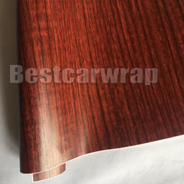 Furniture Film online shopping - Wood Grain Faux Finish Textured Vinyl Wrap Paper Film for Car Home Office Furniture DIY No Mess Easy to Install Air release Adhesive