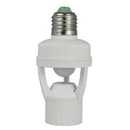 $enCountryForm.capitalKeyWord Canada - AC 110-220V 360 Degrees 60W PIR Induction Motion Sensor IR infrared Human E27 Plug Socket Switch Base Led Bulb Light Lamp Holder
