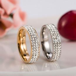 Heart Steel Bar Canada - Brand New 316L Stainless Steel Couple Rings For Women Men CZ Zirconia Rings New Women Charm Jewelry