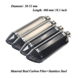 motorcycle pipes NZ - Universal Motorcycle Exhaust Muffler Pipe With DB Killer Modified Scooter Slip on 38-51mm