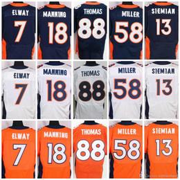 1fc259301 Elite Men Stitched jerseys #58 Von Miller 18 Peyton Manning 95 Derek Wolfe  12 Paxton