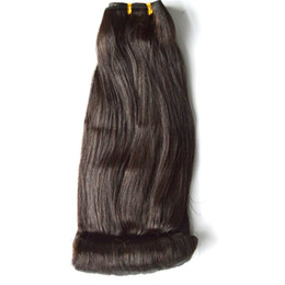wholesale funmi human hair UK - Peruvian Human Hair Extension 3 Bundles Natural Color Funmi Human Hair Weaves Bundles 100g pc FDSHINE