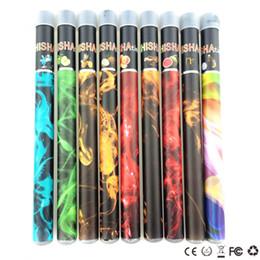 ShiSha pen diSpoSable e cigarette online shopping - 500 puffs ShiSha pen Disposable Electronic cigarette Shisha time disposbale E cigs Flavors Hookah pen mAh top cell battery